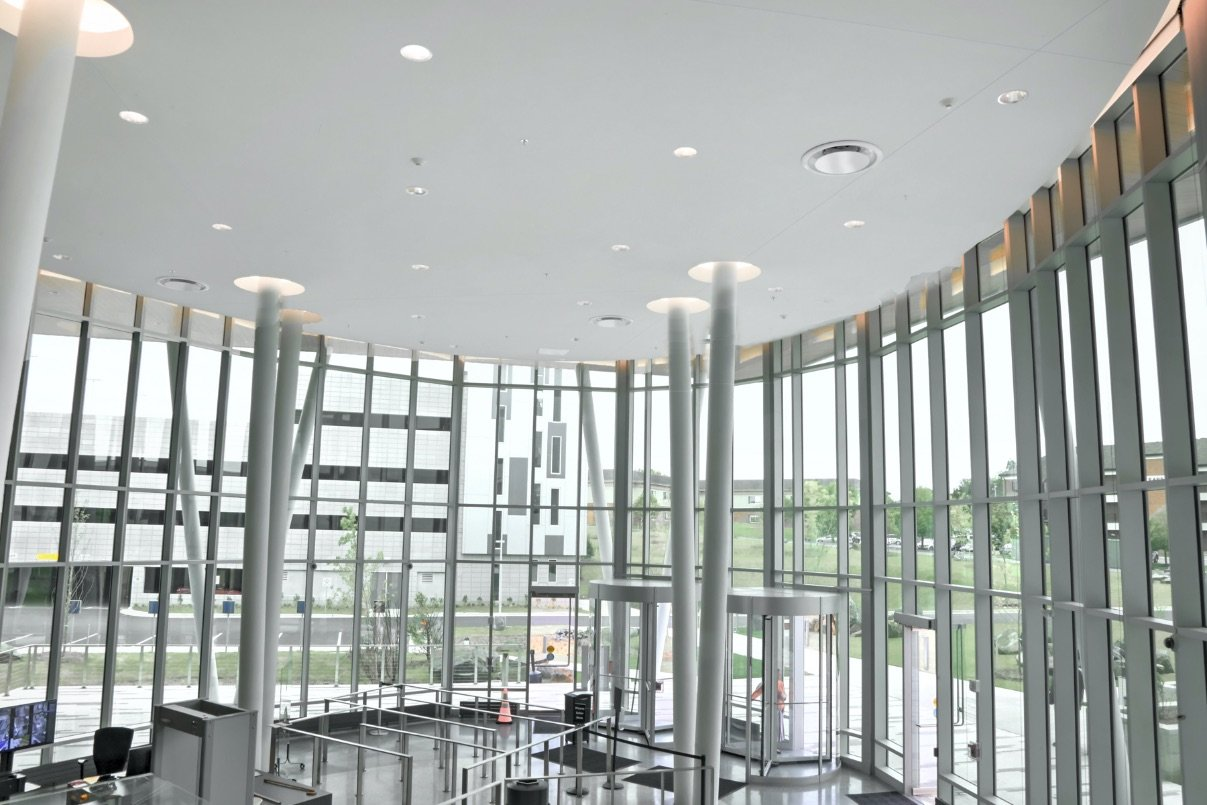 Bradleigh Applications, Inc. Acoustical Plaster Construction using BASWAphon at Catonsville Courthouse