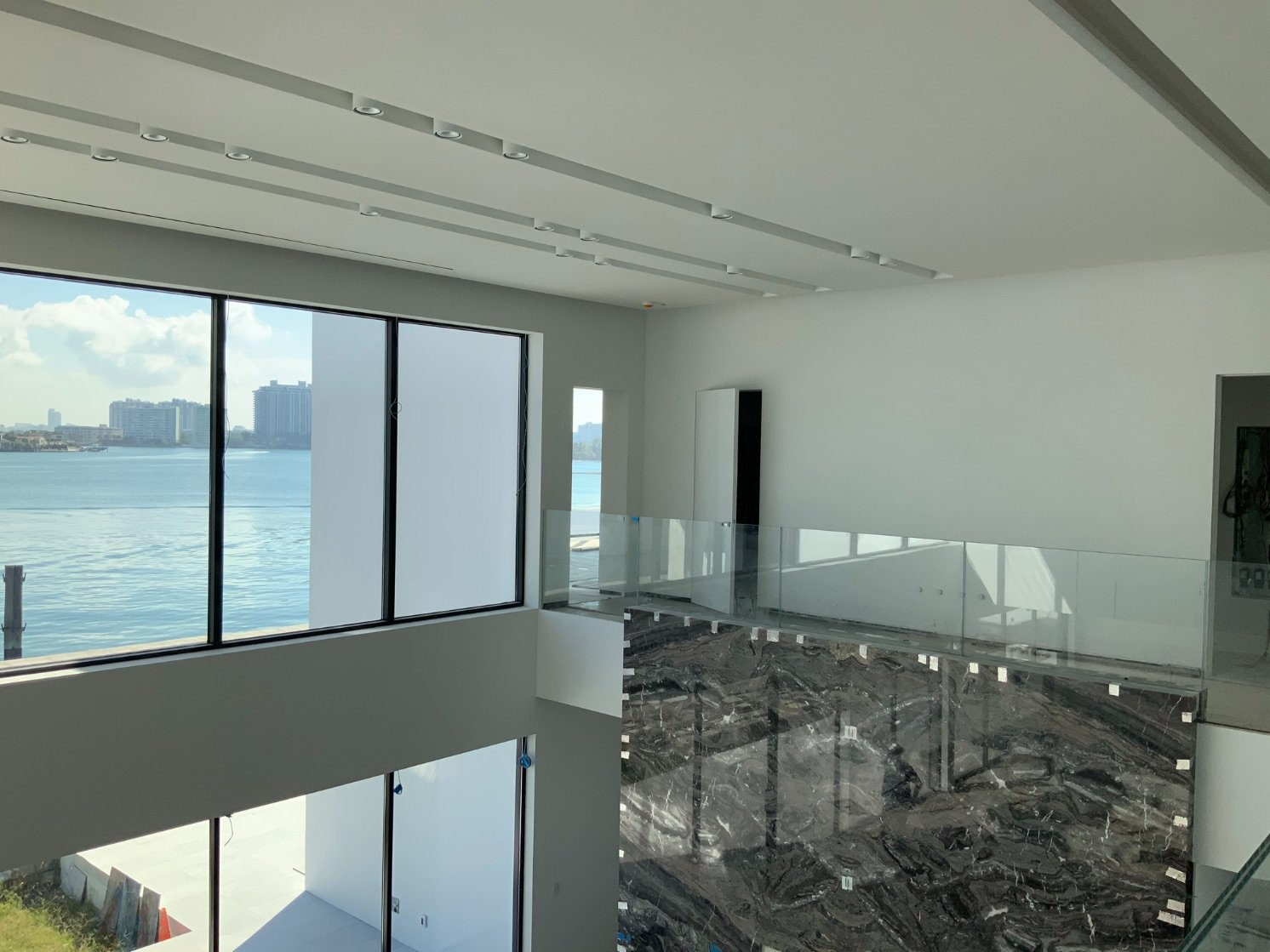 Bradleigh Applications Inc Acoustical Plaster using BASWAphon at Hibiscus Island Private Residence