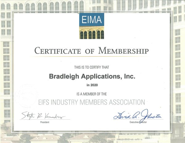 EIMA 2020 Certificate